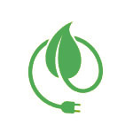 Energy saving leaf graphic